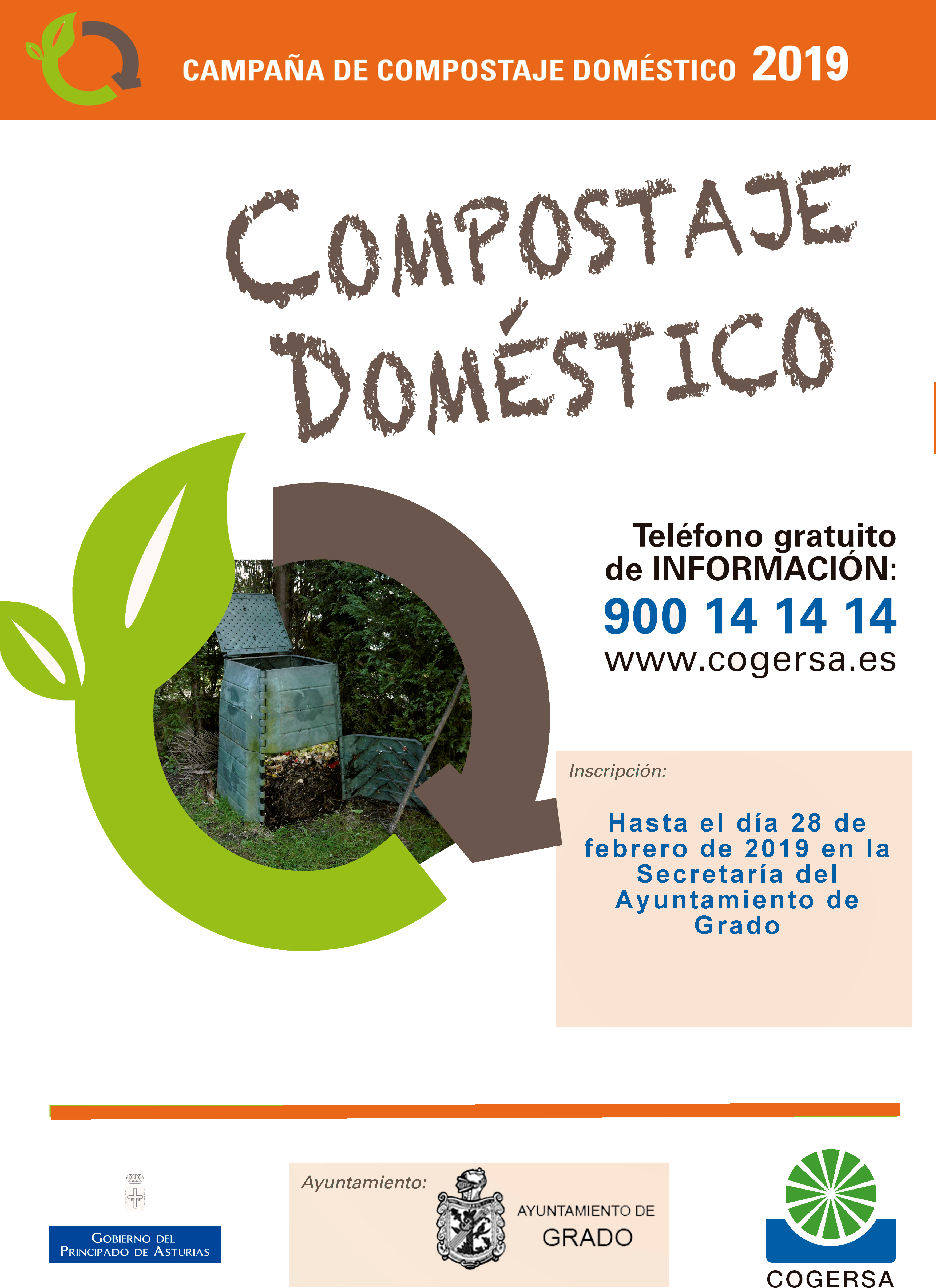 Cartel Composaje domestico 2019