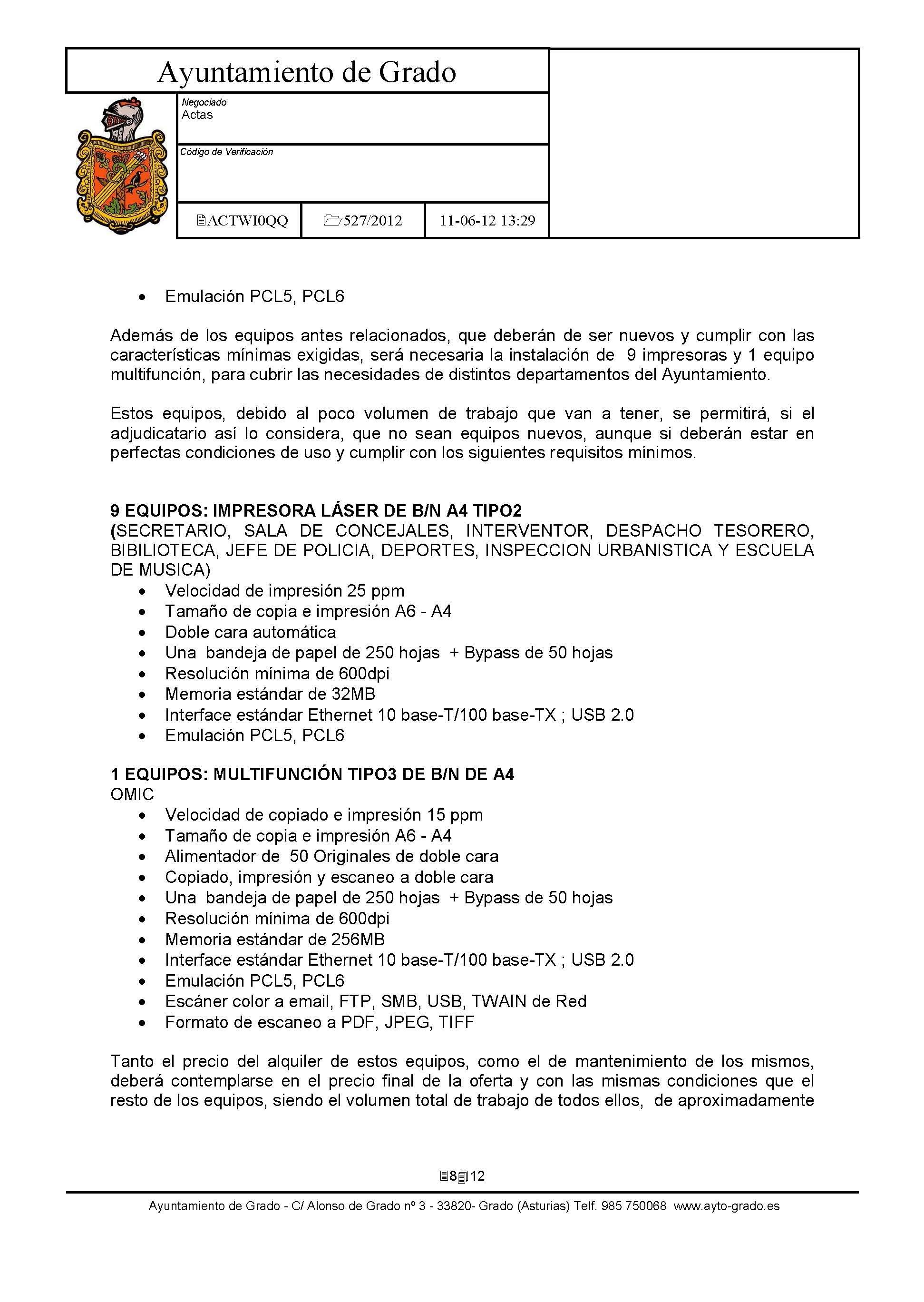 Fin Suministros - Ayuntamiento de Grado